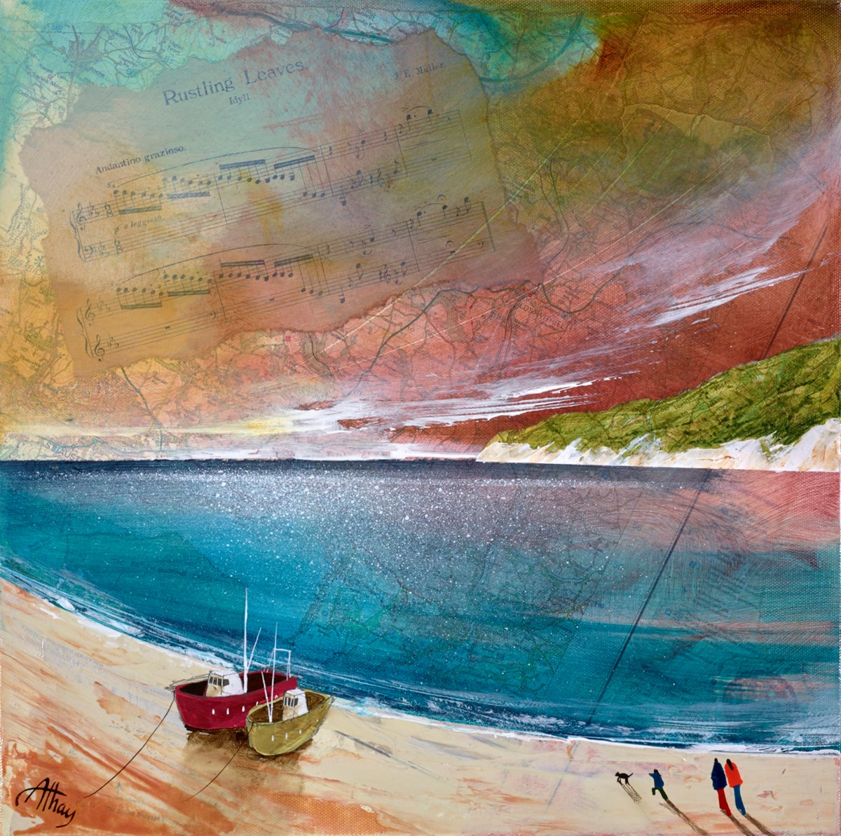 Idyll by keith athay -  sized 16x16 inches. Available from Whitewall Galleries